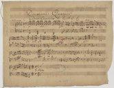 Deuxième Quatuor // à Deux Clavecins ./. Par A. L. C. (manuscrit autographe)