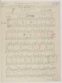 """""""Tre Divertimenti facili sû 5. note per il Pianoforte a quattro mani. N° 1. Favoletta 2. Canzone Villereccia 3. sérenata. G. Gariboldi."""" (manuscrit autographe)"""