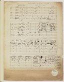 """Le Freischutz, de Weber. """"Transposition de l'air d'Agathe au second acte instruments à cordes"""" (manuscrit en partie autographe)"""