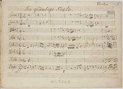 Die gläubige Seele // Geistliche Cantate // für Solostimmen, Chor // und Orchester // comp. von // Joh. Ernest Eberlin // Partitura Autographa (manuscrit autographe)