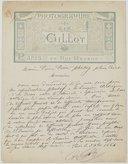 [Lettre de Charles Gillot à Pierre Petit, 3 décembre 1884]