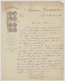 [Lettre d'Antoine Lumière à Pierre Petit, 11 janvier 1885]