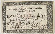 Psal[mo] centesimo; Misericordiam et judicium // cantabo tibi Domine // Canon in Hypodiapaso post tempus // Christophorus Demantius Cant. Frib: scrib[am] 26 Febr[uarii] // 1629.