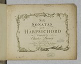 Six Sonatas for the harpsichord...