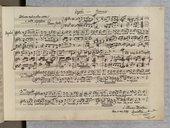 Canone a 3 Voci di L. Cherubini (manuscrit autographe)