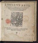 Libellus artificiosus omnibus pictoribus, statuariis, aurifabris, lapidicidis, arculariis, laminariis et cultrariis fabris sumopere utilis...