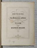 Rêveries d'un promeneur solitaire (J. J. Rousseau) pour piano. Op. 101