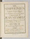 Six Simphonies a quatre parties obligées avec haubois et cors de chasse... Oeuvre VII, mis au jour par M. de La Chevardière