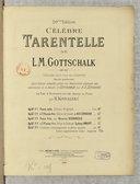 Célèbre Tarentelle de L.-M. Gottschalk, op. 67, arrangée pour 2. pianos, 4 mains par Sydney Lambert (20e édition)