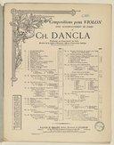 Romance en Fa pour violon avec accompagnement de piano ou d'orchestre : Op. 50 / Beethoven ; revue et doigtée par Charles Dancla, professeur au Conservatoire