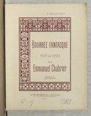 Bourrée fantasque pour le piano à 4 mains par Emmanuel Chabrier