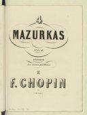 Oeuvres posthumes pour piano / de Fréd. Chopin ; publiés sur manuscrits originaux avec autorisation de sa famille par Jules Fontana