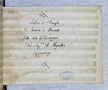 Studio di Fughe // di Antonio di Donato // fatte sotto la direzione // del Sigr D. Alessandro // Speranza (manuscrit autographe)