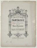 Fantaisie sur l'hymne national russe, transcrite pour piano et harmonium par Alex Guilmant