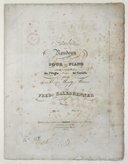 Introduction et Rondeau pour le piano sur un motif du ballet de l'Orgie, musique de Carafa, op. 117