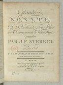 Grande Sonate pour le clavecin ou le forte-piano avec accompagnement de violon obligé... [en sib]