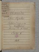Alexandre // chez Apelles // Ballet en deux actes // de Mr. Gardel // Musique de Mr Catel // Acte 1er // 1808