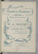 Bastien et Bastienne : opéra comique en un act / W. A. Mozart ; version française par H. Gautier-Villars et G. Hartmann ; partition pour chant et piano réduite par Gustave Sandré