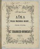Aïka. Polka-mazurka arabe pour piano par E. nuel, Chabrier Durozay