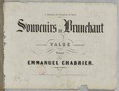 Souvenirs de Brunehaut. Grande valse composée pour piano par Emmanuel Chabrier