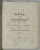 Trio pour piano, violon et violoncelle... par George Onslow. Op. 26