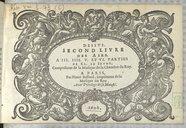Second livre des airs à III. IIII. V. et VI. parties de Cl. Le Jeune. Compositeur de la Musique de la Chambre du Roy