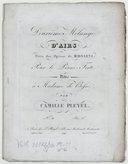 Mélange (Deuxième) d'airs tirés des opéras de Rossini, pour le piano-forte