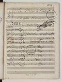 Le Prince de Noisy. // Ballet héroïque (manuscrit autographe)