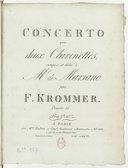 Concerto pour 2 clarinettes. Oeuvre 35 (en fa)