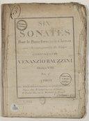Six sonates pour le piano-forte ou le clavecin avec accompagnement de violon composées par Venanzio Rauzzini. Opéra VIII