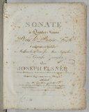 Sonate à quatre mains pour le piano forte, composée... par Joseph Elsner. Oeuv. 16