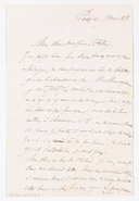 [Lettre d'Antoine Etex à Edouard Foleÿ. 5 mai 1858]