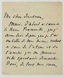 Fonds André Antoine (1858-1943). A. André Antoine. II. Lettres reçues par André Antoine. M. Meeking, Mme Charles - Ménessier, A. Mendès, Catulle