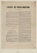 """""""Projet de Proclamation"""" de l'Assemblée Nationale"""