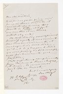 [Lettre de Georges Mathias à Monsieur de Beauchêne, 18 décembre 1865] (manuscrit autographe)