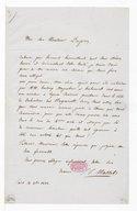 [Lettre de Jean Jacques Masset à Monsieur Gilbert Duprez, 10 octobre 1838] (manuscrit autographe)