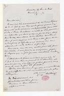 [Lettre de Georges Mathias à Monsieur de Beauchêne, 8 Mars 1871] (manuscrit autographe)