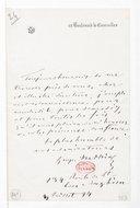 [Lettre de Georges Mathias à Monsieur le Directeur, 3 juillet 1894] (manuscrit autographe)