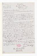 [Lettre de Georges Mathias à Monsieur de Beauchêne, 20 Février 1871] (manuscrit autographe)