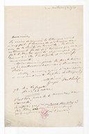 [Lettre de Georges Mathias à la Société des concerts du Conservatoire] (manuscrit autographe)