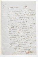 [Lettre de Frédéric Bérat à Monsieur Ch. de Matharel, Dimanche] (manuscrit autographe)