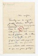 [Lettre de Charles de Bériot à Monsieur xxx, (sans date)] (manuscrit autographe)