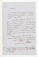 [Lettre de Fréderic Bérat à Monsieur xxx, (sans date)] (manuscrit autographe)