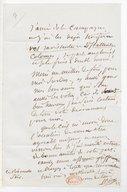 [Lettre de Fréderic Bérat à Monsieur Achard, (sans date)] (manuscrit autographe)