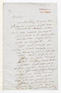 [Lettre de Fréderic Bérat à Madame Fossard, Février 1837] (manuscrit autographe)