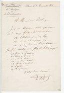 [Lettre à Berlioz] (manuscrit autographe)