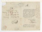 [Invitation pour la Messe en grande symphonie, à l'église St Roch, 28 décembre 1824] (manuscrit autographe)