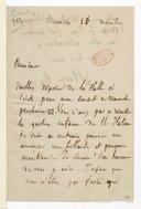 [Lettre de Hector Berlioz à Monsieur xxx, (Dimanche 15 décembre ?)] (manuscrit autographe)