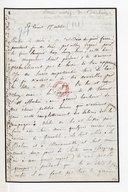 [Lettre adressé à Berlioz par une dame de sa famille, Saint-Vincent, 17 octobre 1878] (manuscrit autographe)