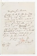 [Lettre de Ferdinand David à Monsieur Brissler, 3 juillet 1867] (manuscrit autographe)